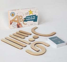 Bygg bokstäver och samla stjärnor med Clicko bokstavsspel
