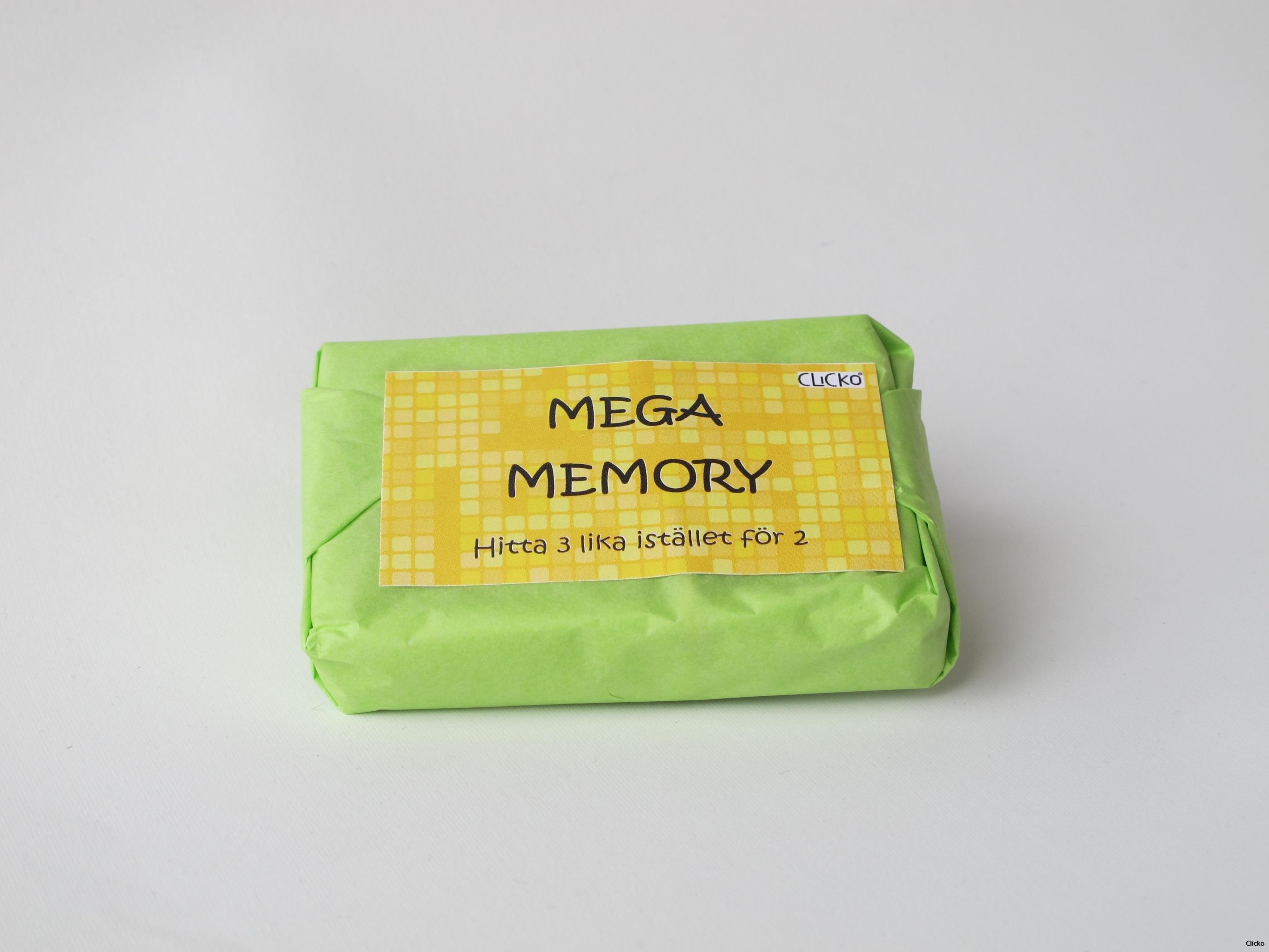 Megamemory förpackning