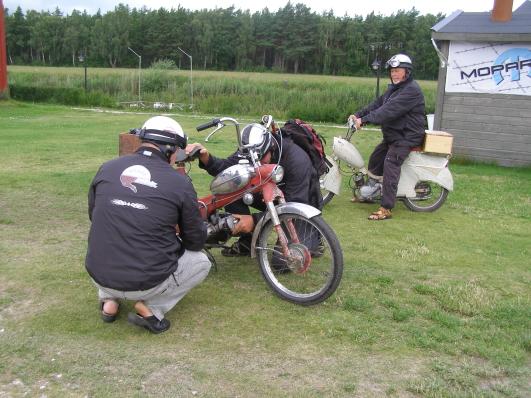 Mopedträff i När