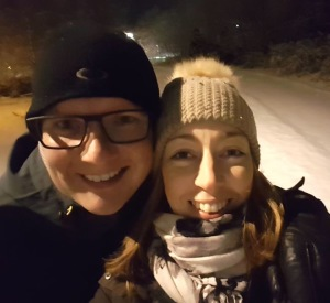 Dagen innan vårt andra ultraljud gick vi en härligt kvällspromenad i ett underbart vinterlandskap.