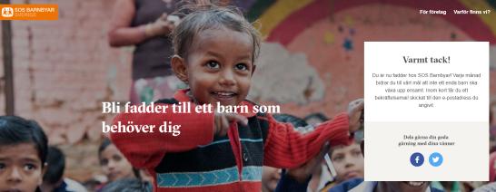 I väntan på att få egna barn valde vi att bli faddrar genom SOS-barnbyar, och på det sättet hjälpa ett annat barn.