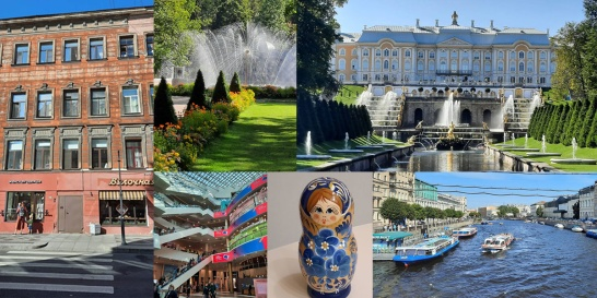 Lite olika bilder från vår senaste resa till St Petersburg. Huset vi bodde i, Petershof, Shoppingcenter, vår Ryska docka och båtarna somåker i vattnet.