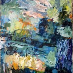 Tryggheten i bergen, 2020. Akryl, 100x80 cm.
