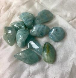 Akvamarin blå - akvamarin blå 20 mm