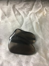 Obsidian silver ca 25-30 mm