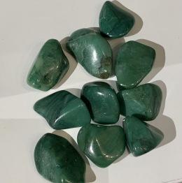 Turmalin grön,(Verdit) trumlad -