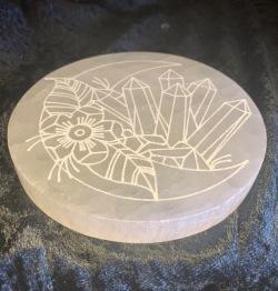Selenitplatta - 10,5-11 cm i  diameter