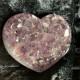 Ametist hjärtan - 116 gr