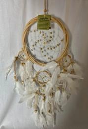 Drömfångare - Drömfångare 16 cm fem ringar i rotting