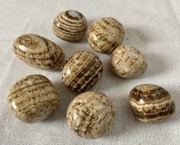 Aragonit trumlad, Peru ca 25-30 mm