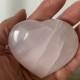 Gröna och rosa  Kalcit hjärtan