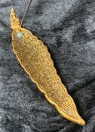 Rökelsehållare blad Buddha - Blad Buddha guld