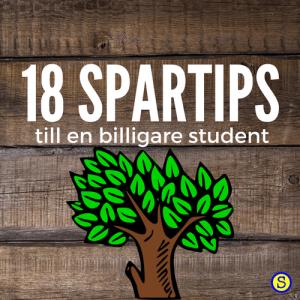 Banner till Studenternas. 18 Spartips till en billigare student.