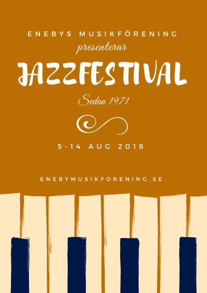 Affischer från Serfolk med enn affisch som bjuder in till jazzfestival