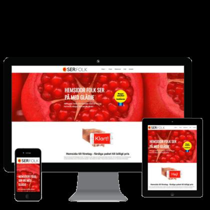 Serfolk - hemsida till företag
