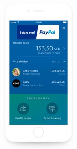 Betala med Paypal appen