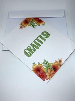 Komma ut - kort - Komma ut-kort + kuvert
