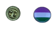 Genderqueerflagga pin