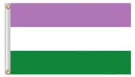 Genderqueer flagga 90x150