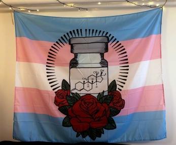 Transflagga Testosteron - Onesize