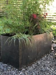 Cortén planteringslådor - Planteringslåda utan botten cortén H450xB480xL1200 mm