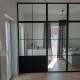 Glasväggar industridesign - Glasvägg med enkeldörr H2500xB3000 mm