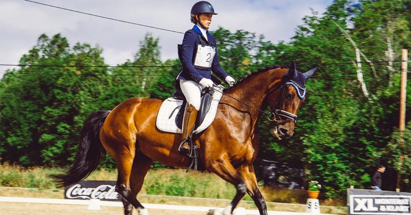 Fälttävlan Arbottna Horse Show i Stockholm under dressyrmomentet. Foto: Jonas Fajers