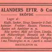 Alander - 1914