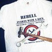 Rebell Tshirt Starts with a kick unisex - Rebell With a kick 3XL