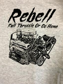 Rebell Tshirt Full Throttle Grå unisex - 2XL