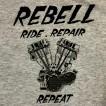 Rebell Tshirt Panhead grå unisex - L