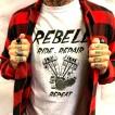Rebell Tshirt Panhead grå unisex - XXL