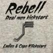 Rebell Tshirt Klickstart grå unisex - XL
