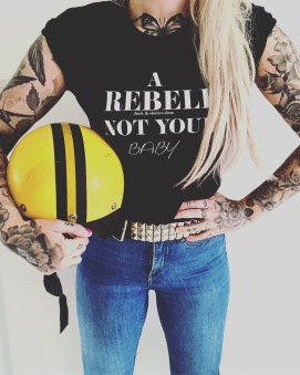 Rebell Tshirt not your baby - Rebell XL