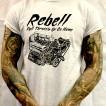 Rebell Tshirt Full Throttle Grå unisex