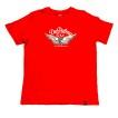 Depalma Tshirt Retro Wheels Röd Unisex