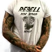 Rebell Tshirt Panhead grå unisex
