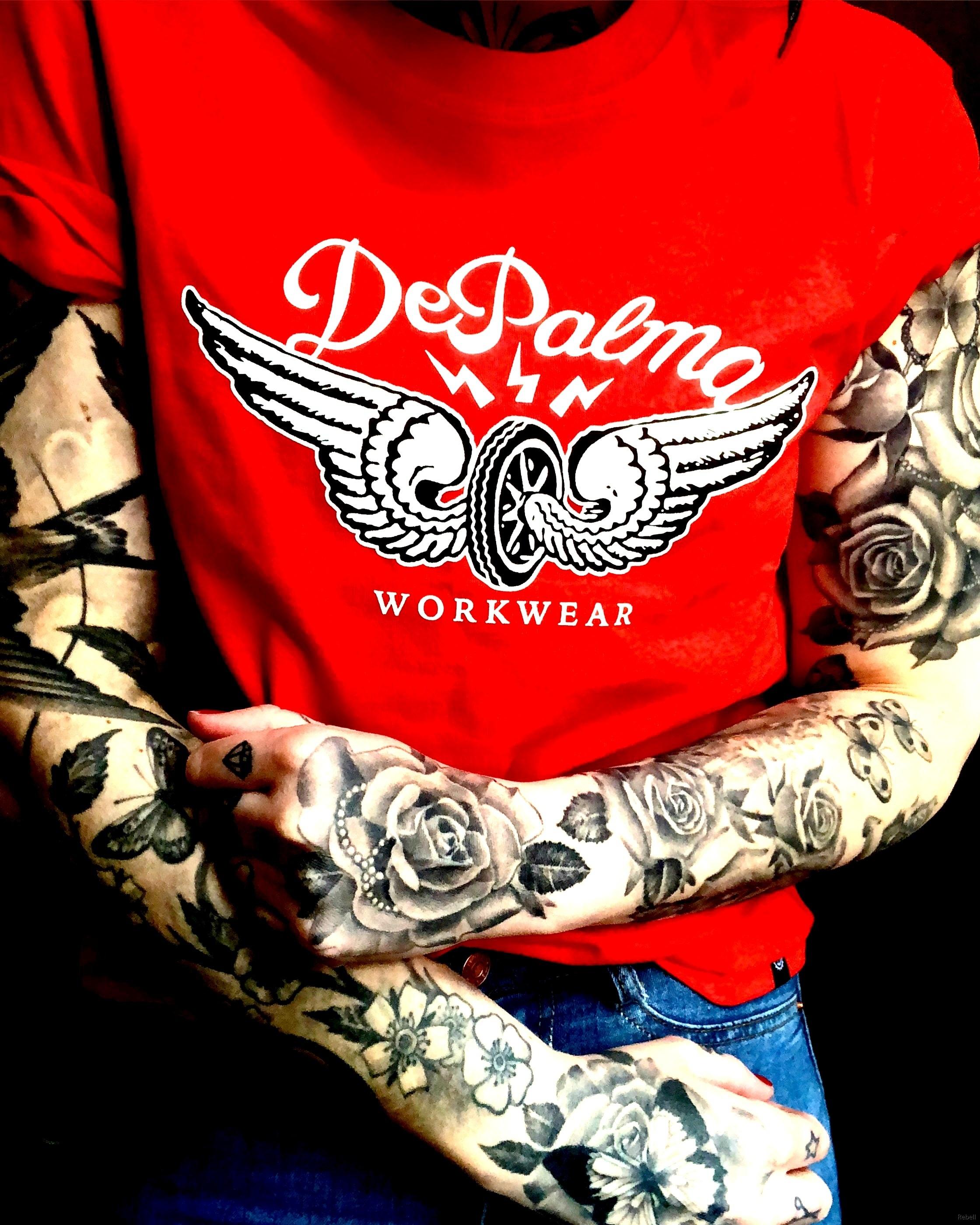 Tatuering Depalma workwear chopper chopped car custom tshirt rebell rebellskövde rebellkläder  bilar hotrods motor wheels