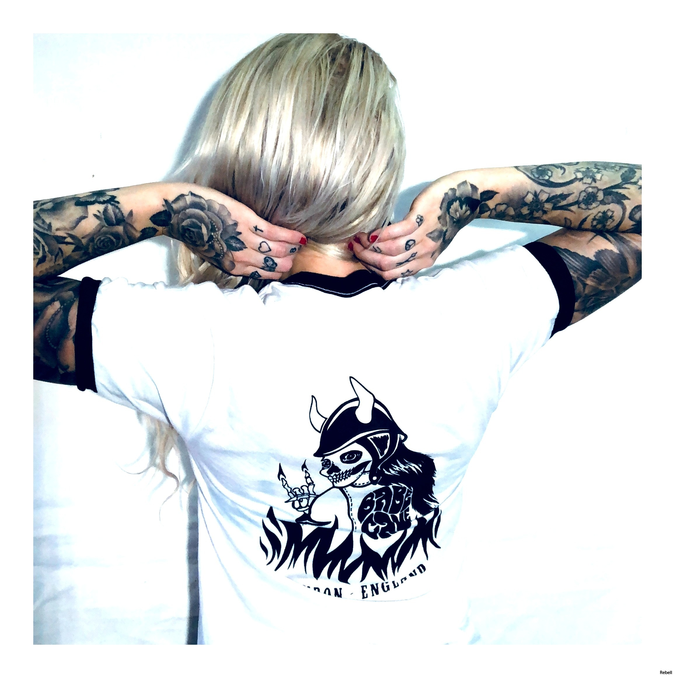 hell bc london longwaybackfromhell rebell tshirt skövde rebellclothes londonclothes skull riding with her