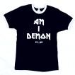Bc Tshirt Am I Demon Svart/vit Tshirt