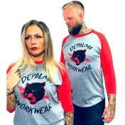 Depalma Tshirt Wildcat röd/grå unisex