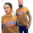 Dickies tshirt Brown duck bas horseshoe unisex - S