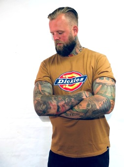 Dickies tshirt Brown duck bas horseshoe unisex - XXXL