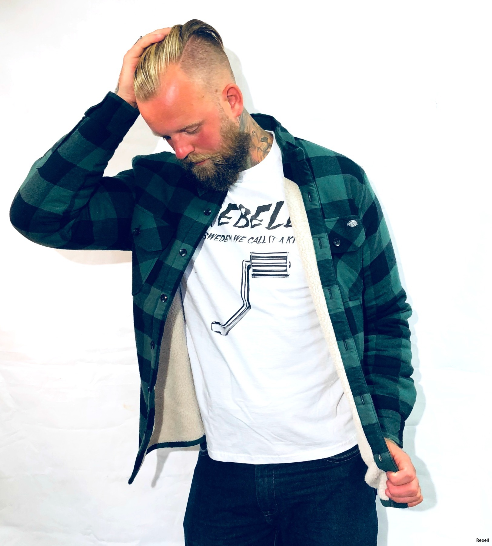 Dickies Fodrad Flanell jacka rebell www.rebellclothes.se