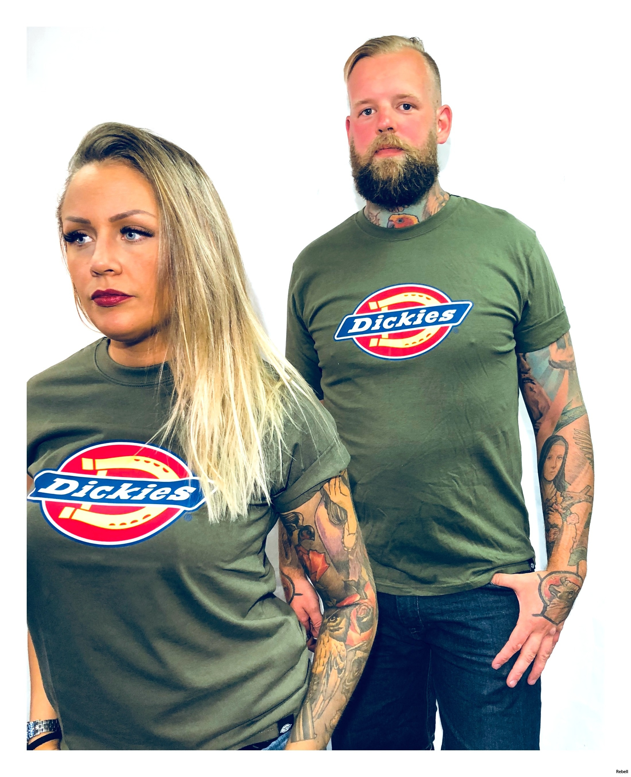 Dickies tshirt olive olive green rebellclothes rebell rebellskövde rebell dickiesskövde bas horseshoe unisex