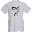 Rebell Tshirt -Fuck Plastic grå unisex
