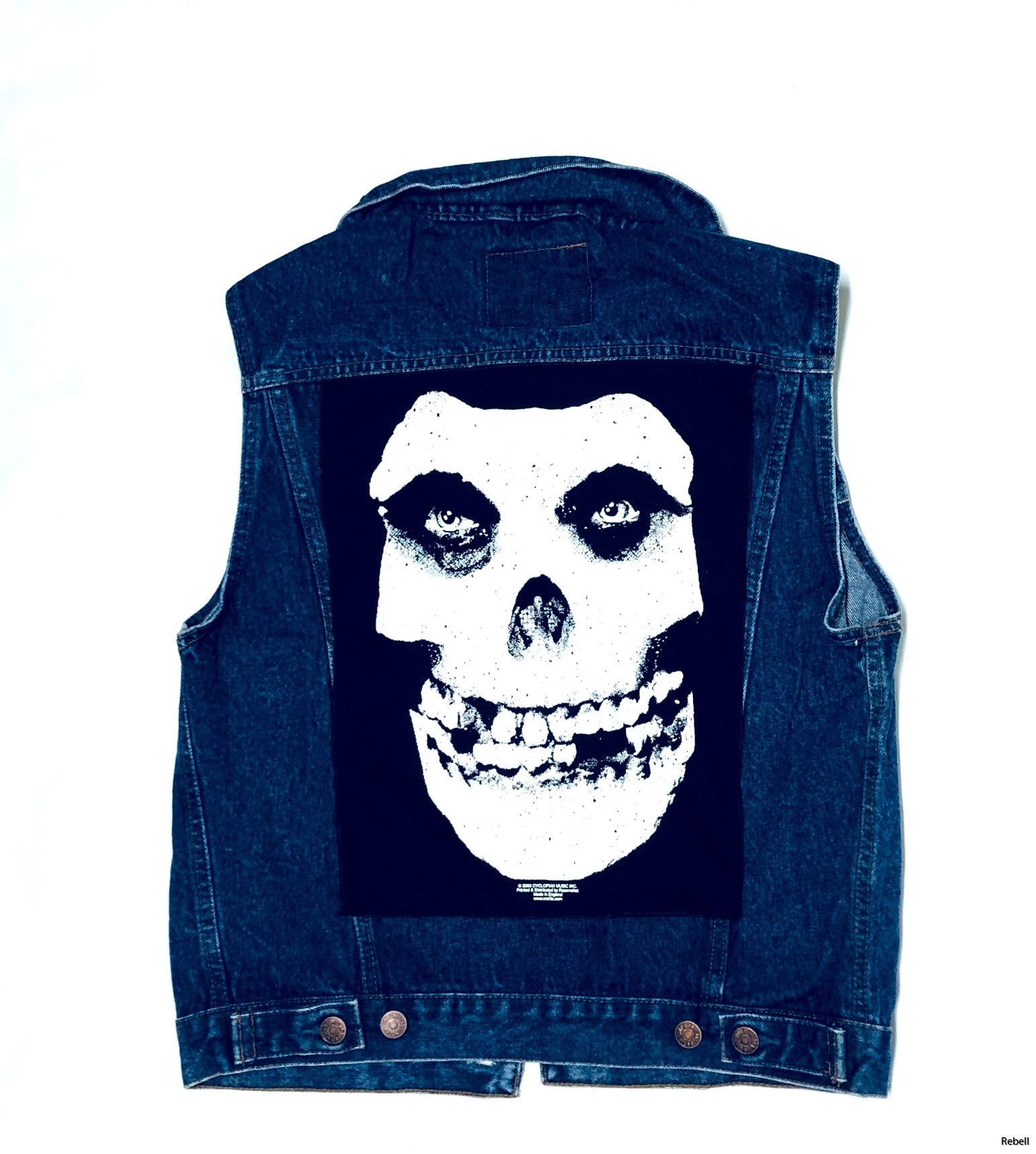 misfits jeansväst rocknroll rebell punk