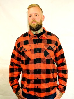 Dickies Flanell Sacramento orange unisex - XS