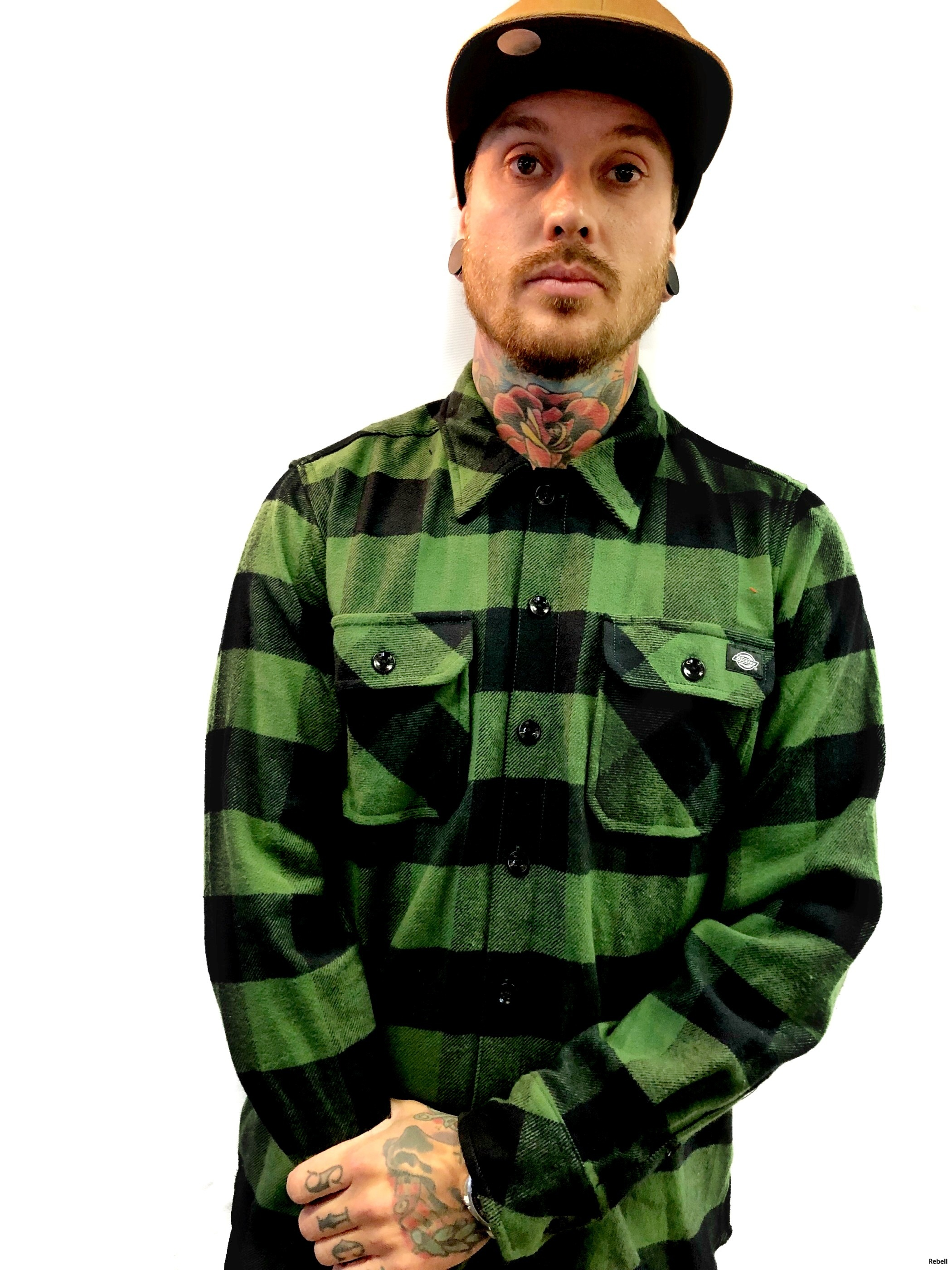 dickies dickiesflanell Pinegreen pine grönflanell rebell rebellclothes ar