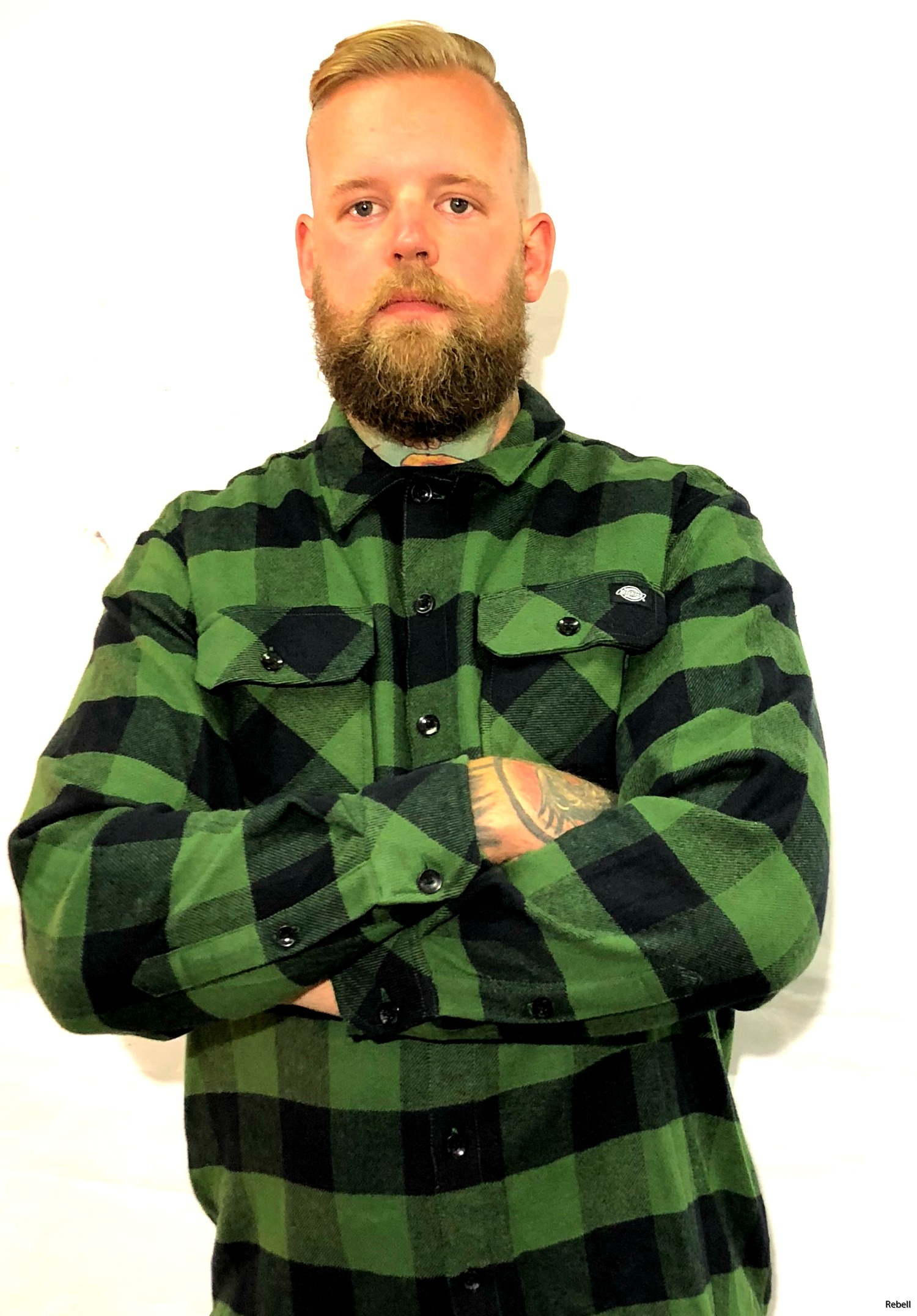dickies dickiesflanell Pinegreen pine grönflanell rebell rebellclothes art